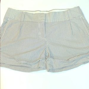 J. Crew blue and white seer sucker shorts size 6